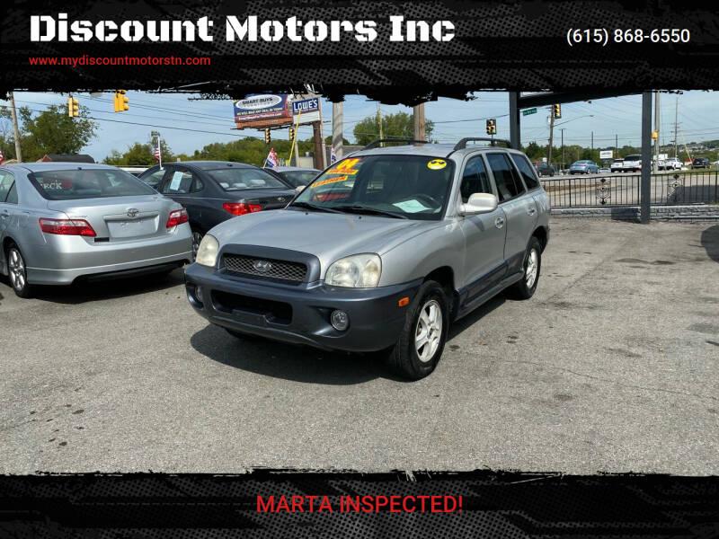2004 Hyundai Santa Fe for sale at Discount Motors Inc in Madison TN