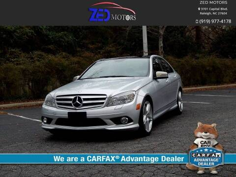 2010 Mercedes-Benz C-Class for sale at Zed Motors in Raleigh NC