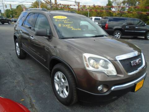 2010 GMC Acadia for sale at River City Auto Sales in Cottage Hills IL
