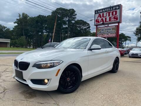 2014 BMW 2 Series for sale at Carafello's Auto Sales in Norfolk VA