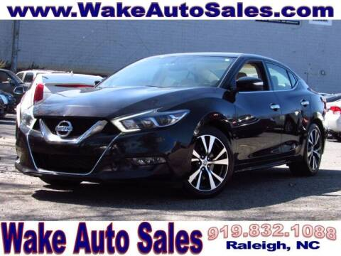 2017 Nissan Maxima for sale at Wake Auto Sales Inc in Raleigh NC