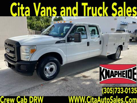 2012 FORD F350 SD CREW CAB *DRW** UTILITY TRUCK* for sale at Cita Auto Sales in Medley FL
