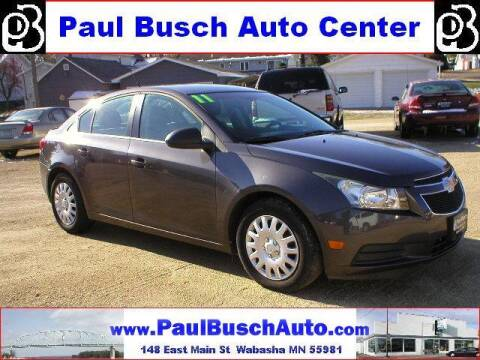 2011 Chevrolet Cruze for sale at Paul Busch Auto Center Inc in Wabasha MN