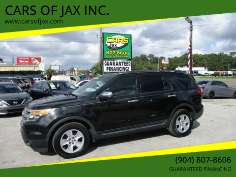 2013 Ford Explorer for sale at CARS OF JAX INC. in Jacksonville FL