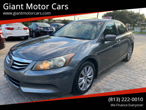 2011 Honda Accord for sale at Giant Motor Cars in Tampa FL