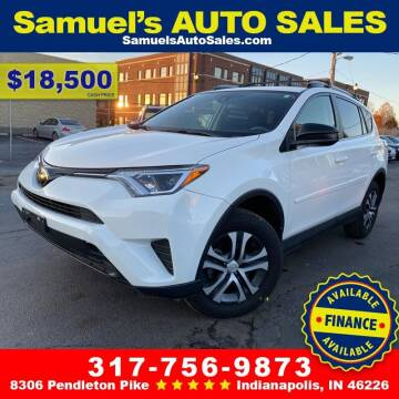 2018 Toyota RAV4 for sale at Samuel's Auto Sales in Indianapolis IN