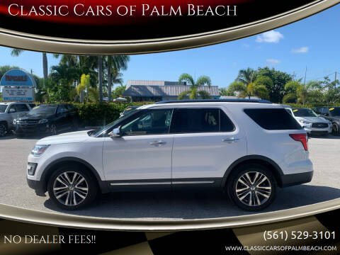 2017 Ford Explorer for sale at Classic Cars of Palm Beach in Jupiter FL