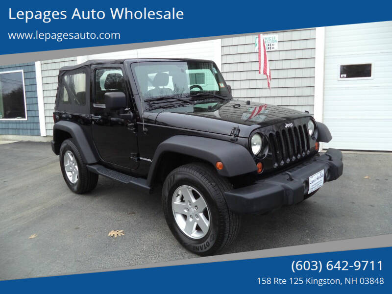 2012 Jeep Wrangler for sale at Lepages Auto Wholesale in Kingston NH