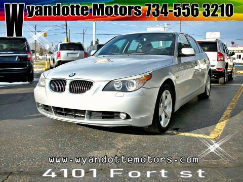 2007 BMW 5 Series for sale at Wyandotte Motors in Wyandotte MI
