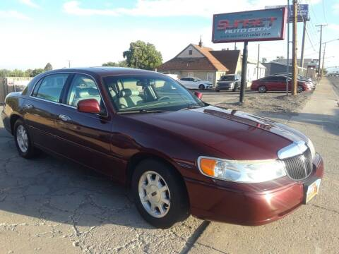 2001 Lincoln Town Car for sale at Sunset Auto Body in Sunset UT