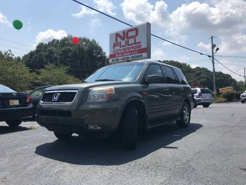 2008 Honda Pilot for sale at No Full Coverage Auto Sales in Austell GA