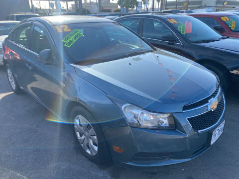 2012 Chevrolet Cruze for sale at North County Auto in Oceanside CA