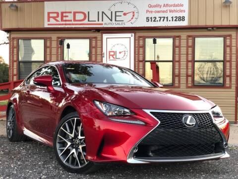 2015 Lexus RC 350 for sale at REDLINE AUTO SALES LLC in Cedar Creek TX