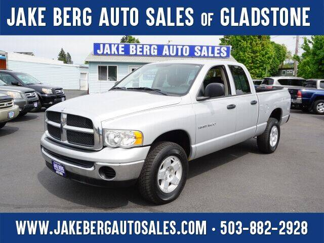 2004 Dodge Ram Pickup 1500 for sale at Jake Berg Auto Sales in Gladstone OR