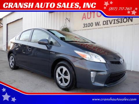 2014 Toyota Prius for sale at CRANSH AUTO SALES, INC in Arlington TX