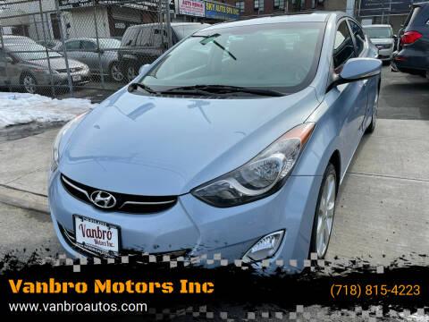 2013 Hyundai Elantra for sale at Vanbro Motors Inc in Staten Island NY