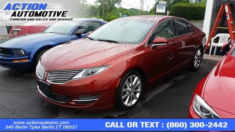 2014 Lincoln MKZ for sale at Action Automotive Inc in Berlin CT