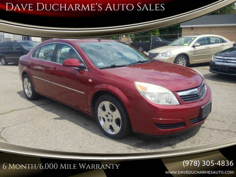 2008 Saturn Aura for sale at Dave Ducharme's Auto Sales in Lowell MA