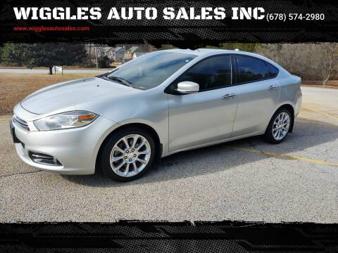 2013 Dodge Dart for sale at WIGGLES AUTO SALES INC in Mableton GA