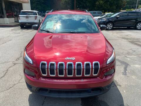 2015 Jeep Cherokee for sale at J Franklin Auto Sales in Macon GA