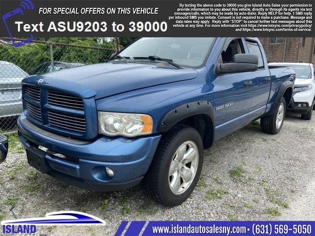 2004 Dodge Ram Pickup 1500 for sale at Island Auto Sales in East Patchogue NY
