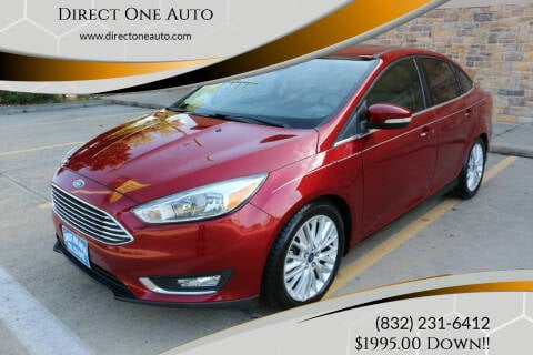 2015 Ford Focus for sale at Direct One Auto in Houston TX