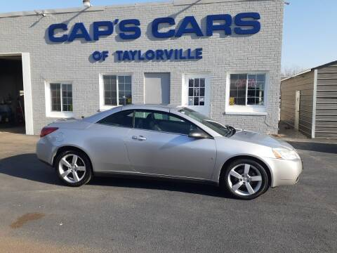2007 Pontiac G6 for sale at Caps Cars Of Taylorville in Taylorville IL