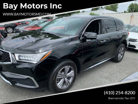 2019 Acura MDX for sale at Bay Motors Inc in Baltimore MD