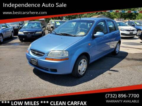 2004 Chevrolet Aveo for sale at Independence Auto Sale in Bordentown NJ