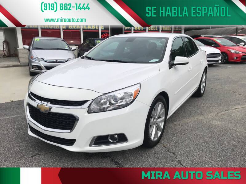 2015 Chevrolet Malibu for sale at Mira Auto Sales in Raleigh NC