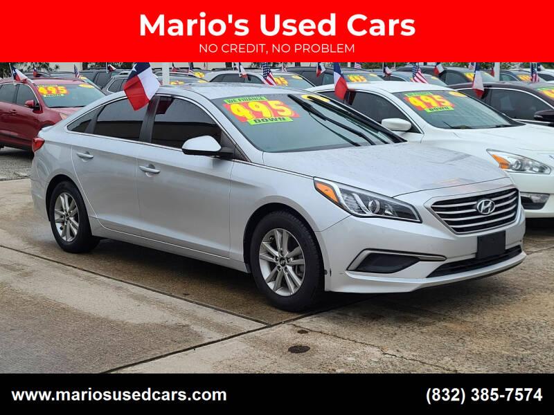 2017 Hyundai Sonata for sale at Mario's Used Cars in Houston TX