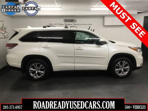 2016 Toyota Highlander for sale at Road Ready Used Cars in Ansonia CT