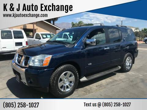 2006 Nissan Armada for sale at K & J Auto Exchange in Santa Paula CA