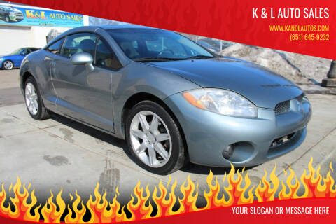 2007 Mitsubishi Eclipse for sale at K & L Auto Sales in Saint Paul MN