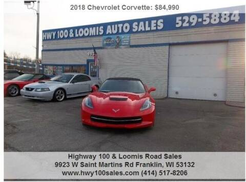 2018 Chevrolet Corvette for sale at Highway 100 & Loomis Road Sales in Franklin WI