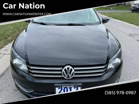 2012 Volkswagen Passat for sale at Car Nation in Webster NY