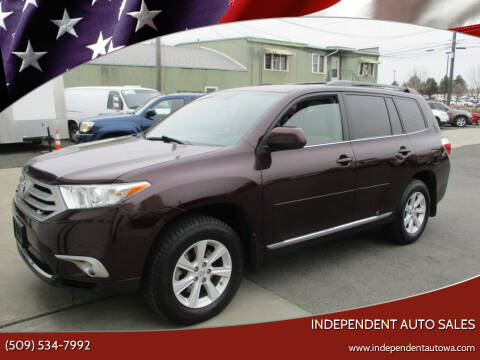 2012 Toyota Highlander for sale at Independent Auto Sales in Spokane Valley WA