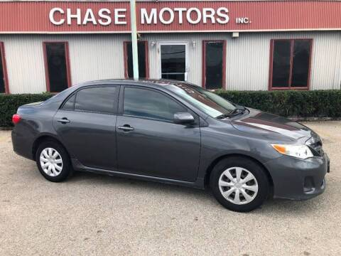 2011 Toyota Corolla for sale at Chase Motors Inc in Stafford TX