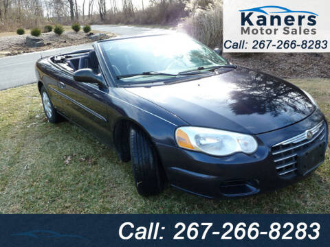 2004 Chrysler Sebring for sale at Kaners Motor Sales in Huntingdon Valley PA