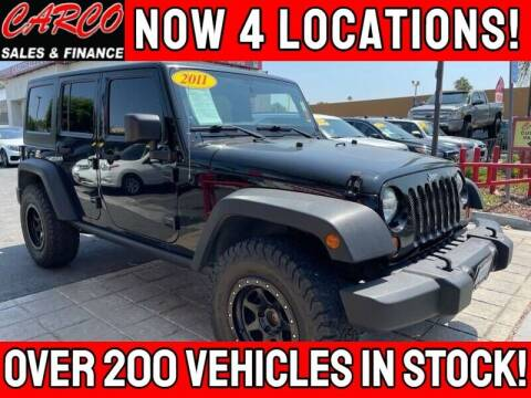2011 Jeep Wrangler Unlimited for sale at CARCO OF POWAY in Poway CA