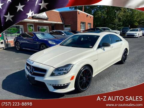 2014 Mercedes-Benz CLS for sale at A-Z Auto Sales in Newport News VA
