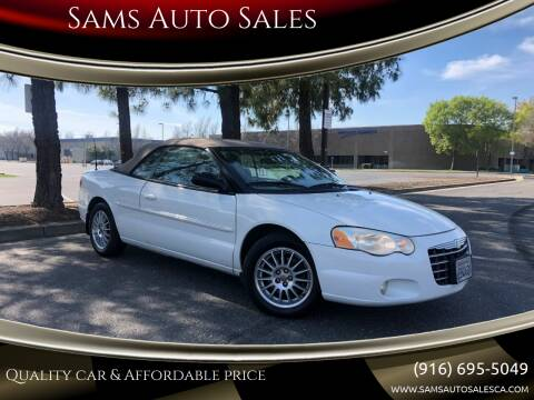 2006 Chrysler Sebring for sale at Sams Auto Sales in North Highlands CA
