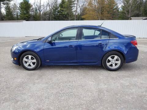 2012 Chevrolet Cruze for sale at Hilltop Auto in Clare MI