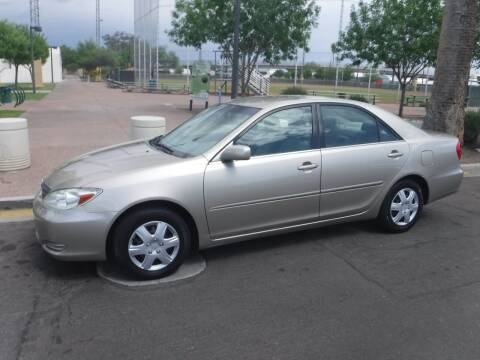2002 Toyota Camry for sale at J & E Auto Sales in Phoenix AZ