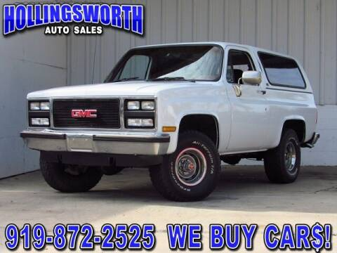 1989 GMC Jimmy for sale at Hollingsworth Auto Sales in Raleigh NC