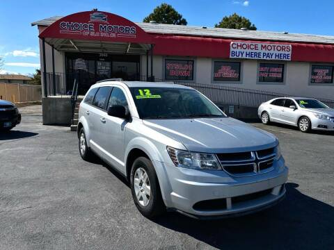 2012 Dodge Journey for sale at Choice Motors of Salt Lake City in West Valley  City UT