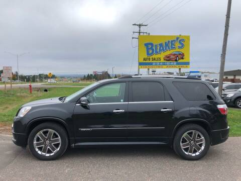 2012 GMC Acadia for sale at Blake's Auto Sales in Rice Lake WI