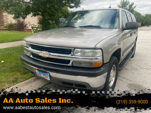 2003 Chevrolet Suburban for sale at AA Auto Sales Inc. in Gary IN