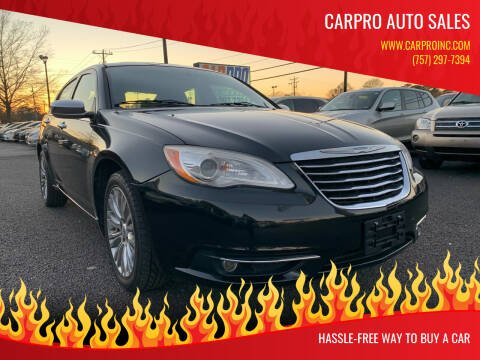 2011 Chrysler 200 for sale at Carpro Auto Sales in Chesapeake VA