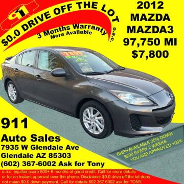 2012 Mazda MAZDA3 for sale at 911 AUTO SALES LLC in Glendale AZ